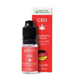 E-liquid CBD 3%Strawberry Diesel 'Breathe Organics'  - 10ml