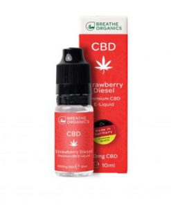 E-liquid CBD 6% Strawberry Diesel 'Breathe Organics' - 10ml