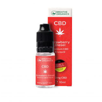 E-liquid CBD 6% Strawberry Diesel 'Breathe Organics' - 10ml