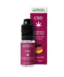 E-liquid CBD 6% Blueberry Kush 'Breathe Organics' - 10ml
