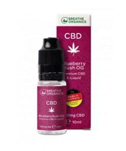 E-liquid CBD 1% Blueberry Kush  'Breathe Organics' - 10ml