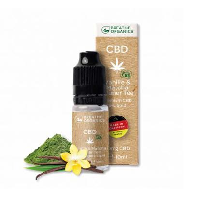 E-liquid CBD 6% Vanilla&green tea 'Breathe Organics' - 10ml