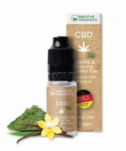 E-liquid CBD 1% Vanilla&green tea 'Breathe Organics' - 10ml