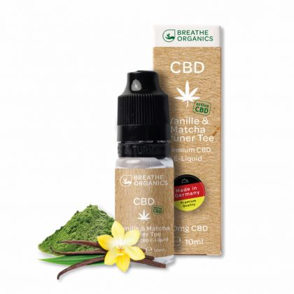 E-liquid CBD 1% Vanilla&green tea 'Breathe Organics' - 10ml
